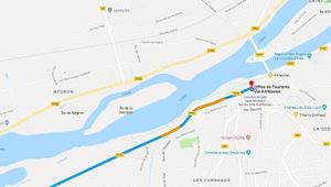 Carte d'accès au gite ''Sur les toits d'Amboise en venant de Tours