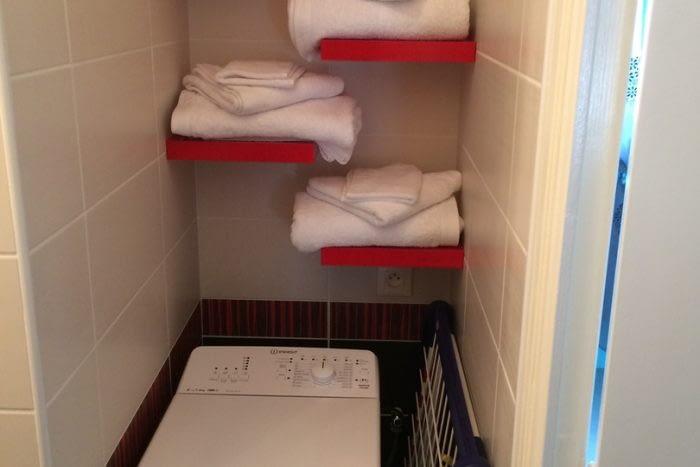 Gîte sur les toits d'Amboise, la salle de bains.