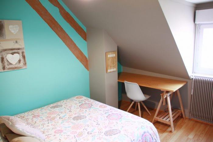 Gîte sur les toits d'Amboise, la chambre bleue.